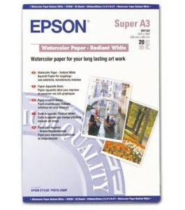 Epson S041352 A3+ Fine Art WaterColour Paper - 20 Pack