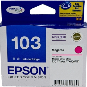 Epson DURABrite Ultra T103 Magenta Extra High Capacity Ink Cartridge