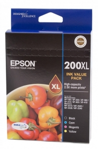 Epson DURABrite Ultra 200XL High Yield Ink Cartridge Value Pack - Black, Cyan, Magenta, Yellow