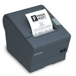 Epson TMT88V USB Serial, Auto Cutter Thermal Direct Receipt Printer - Black