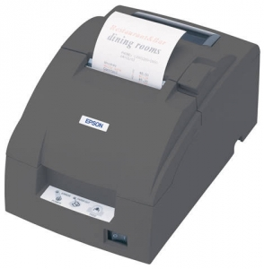 Epson TMU220B Serial Auto Cut Dot Matrix Receipt Printer - Black