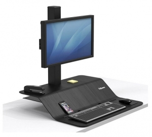 Fellowes Lotus VE Single Monitor Sit Stand Workstation