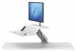 Fellowes Lotus RT Single Monitor Sit Stand Workstation - White