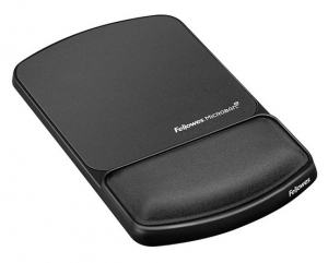 Fellowes Gel Lycra Mouse Pad with Wrist Rest - Graphite
