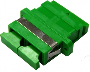 Dynamix Fibre SC-APC to SC-APC Duplex Single-mode Joiner, Ceramic sleeve, Green Colour