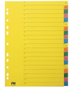File Master A4 Cardboard Jan-Dec Multi Colour Indices