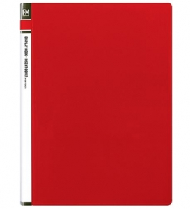File Master 60 Pocket A4 Display Book with Insert Cover - Red