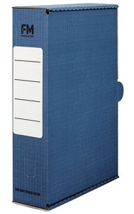 File Master Foolscap Storage Box Carton Blue - 25 Pack