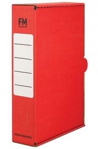 File Master Foolscap Storage Box Carton Red - 25 Pack