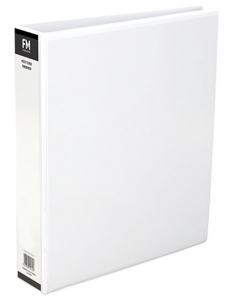 File Master A4 PVC Insert Cover 4/26 Ring Binder White