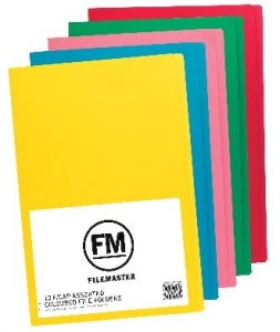 File Master Manila Folders Foolscap Assorted Colours 50 Pack