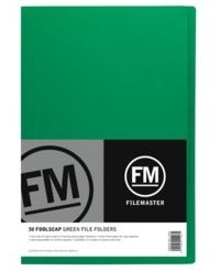 File Master Manila Folders Foolscap Green 50 Pack