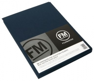 File Master Double Pocket Presentation Folder 10 Pack Navy