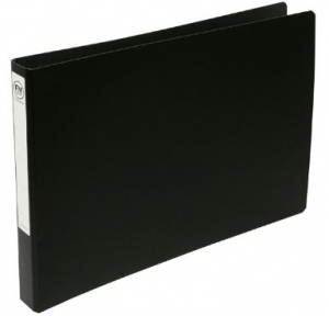 File Master A3 Oblong Trunkboard 3/26 Ring Binder Black