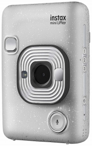 Fujifilm Instax Mini LiPlay Hybrid Camera & Printer - Stone White