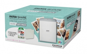 Fujifilm Instax Share SP-2 Smartphone Photo Printer - Silver with Gift Pack