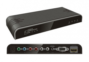Generic Video Converter VGA, Component and RCA to HDMI Upscaler