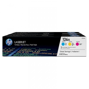 HP 126A Combo Pack Cyan/Magenta/Yellow Toner Cartridges