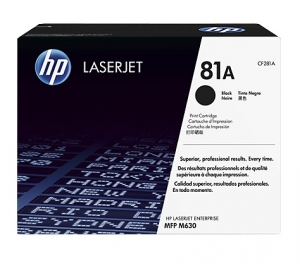 HP 81A Black Toner Cartridge