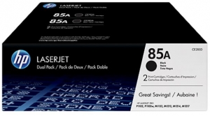 HP 85A Black Toner Cartridge Laser - 1600 Page - 2 Pack