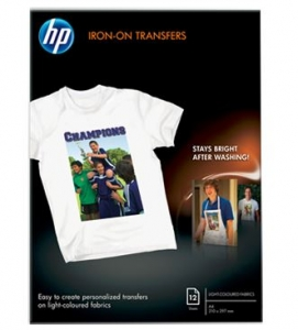 HP Iron-on Transfer 170gsm A4 Paper - 12 Sheets