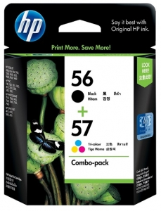 HP 56 Black and 57 Tri-colour Ink Cartridge Combo Pack