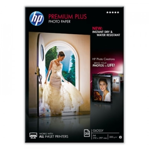HP CR672A A4 Premium Plus A4 300gsm Glossy Photo Paper - 20 Sheets