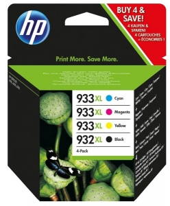 HP 932XL Black & 933XL Colour High Yield Ink Cartridge Combo Pack