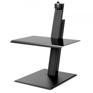 HumanScale Quickstand Eco Single Monitor Sit-Stand Workstation - Black