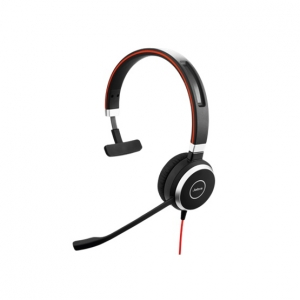 Jabra Evolve 40 UC MS Wired Mono USB Headset - Optimised for Microsoft Skype for Business