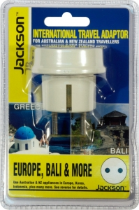 Jackson Outbound International Travel Adaptor for Europe & Bali