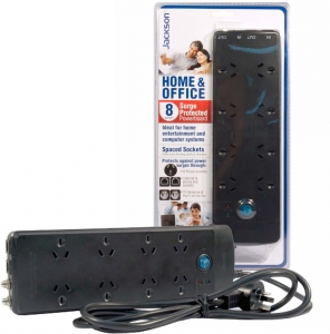 Jackson 8 way Protected Power Board with telephone and TV Line Protection