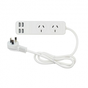 Jackson 2 Outlet Power Board with 4 USB Outlets