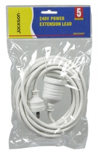 5M Power Extension Lead Supplied in Retail Packaging