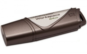 Kingston DataTraveler Workspace 64GB USB 3.0 Flash Drive - Brown