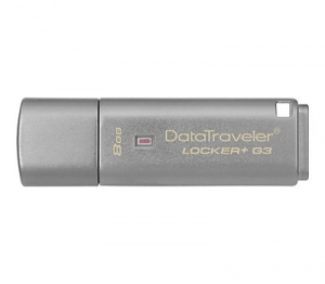 Kingston DataTraveler Locker+ G3 8GB USB 3.0 Flash Drive - Silver