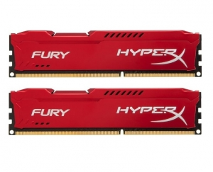 Kingston HyperX Fury 8GB (2 X 4GB) 1866MHz DDR3 Non-ECC CL10 Red Series Memory