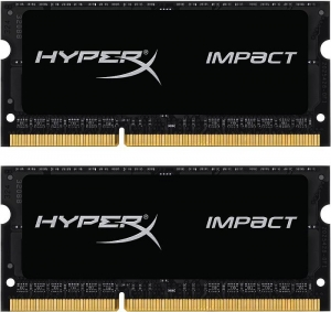 Kingston HyperX Impact SODIMM 16GB (2x8GB) DDR3L 1600MHz 1.35 V Non-ECC Unbuffered 204-pin SoDIMM Memory