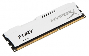 Kingston Hyper X 8GB Fury Series 1600MHz DDR3 Non-ECC CL10 Memory- White