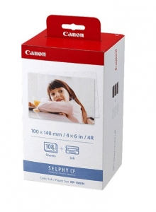 Canon KP-108IN Post Card Ink & Photo Paper Kit