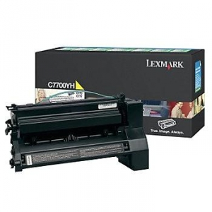 Lexmark C7700YH Yellow Toner Cartridge