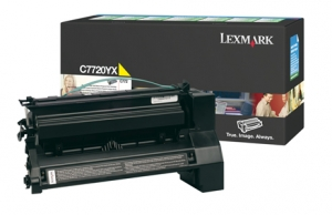 Lexmark C7720YX Yellow Toner Cartridge