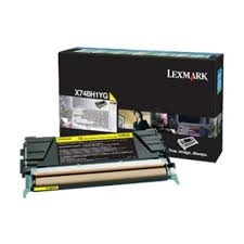 Lexmark X748H1YG Yellow Laser Toner Cartridge