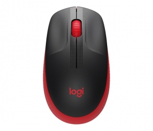 Logitech M190 Full Size Wireless Mouse - Red