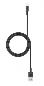 Mophie 1m USB Type-A to Lightning Braided Charge & Sync Cable - Black