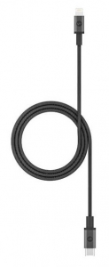 Mophie 1m USB-C to Lightning Braided Charge & Sync Cable - Black