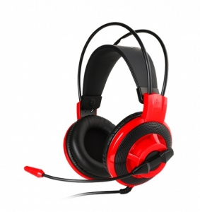 MSI DS501 3.5mm Overhead Wired Gaming Headphones - Black/Red