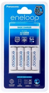 Panasonic Eneloop Overnight Charger + 4 AA Batteries
