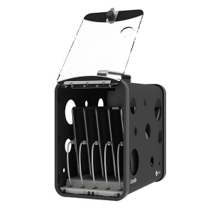 PC Locs CarryOn 5 Device Mobile Charging & Storage Station - Black