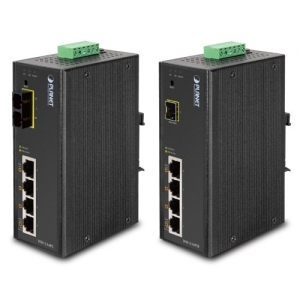 Planet ISW-514PSF 4-Port 10/100Mbps with PoE + 1-Port 100FX Industrial Web Smart Switch
